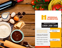 Anuncio de Prensa, Moderna Alimentos