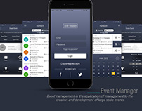 Event Manager App UI