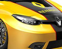Lay Out Racing Car Renault Motorsport 100% CGI