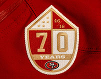 49ERS // 70 YEARS PATCH