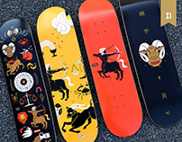 Astrology skateboard collection