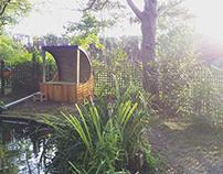 MERAKI - pond side bench & water filter casing