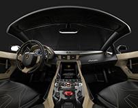 Lamborghini Centenario Roadster 3D Rendering