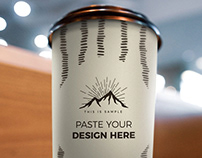 Photorealistic Coffee Cup Mockup Download