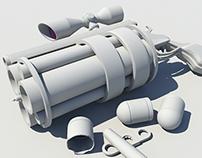 Concept Art Heavy Gun (WIP 3D modeling)