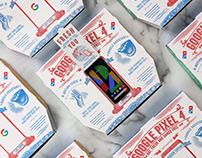 Google Pixel Domino's Pizza Box artwork by Steven Noble