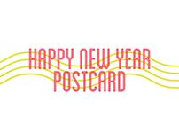 """Happy New Year"" Postcard"