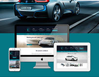 Web design for the site of electric cars