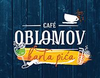 OBLOMOV cafe drink menu