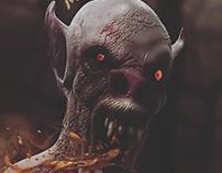 Nosferatu 3D illustration