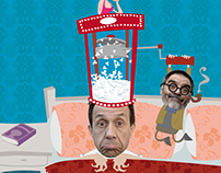 "Poster para obra de teatro ""Ella en mi Cabeza"""
