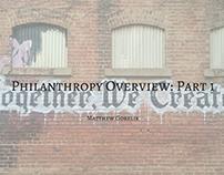 Philanthropy Overview: Part 1