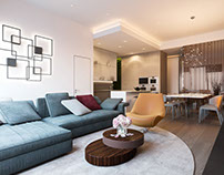 Penthouse in Moscow by Shamsudin Kerimov