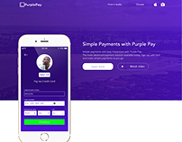 Purple Pay Mobile and Web UI