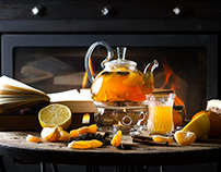 Photography for the winter offer of the tea card
