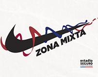 Zona Mixta - NIKE / estadio SEGURO