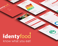Identyfood - APP - Graphic design concept