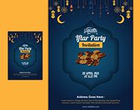Ramadan Kareem Iftar Party Invitation Card Design