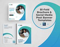 Bi-fold Brochure and Social Media Post Banner Templates