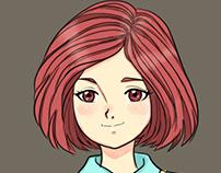 Anime girl character