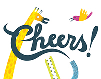 """Cheers!"" greeting card"