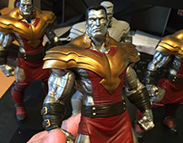 Painted Phoenix Colossus statue (sculpted by me)