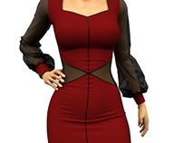 Femme Fatale 3D Marvelous Designer Dress
