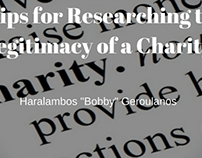 3 Tips for Researching the Legitimacy of a Charity