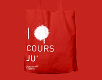 I love Cours Ju'_ tote bag
