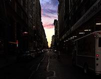Manhattan & Brooklyn bridge by night
