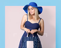 Blue Design Bag