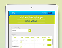 "Citi Mobile Challenge - ""Judge Voting"""