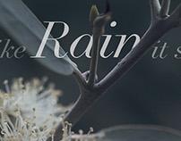 like Rain it sounded