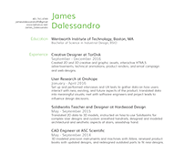 James Dalessandro 2017 Resume