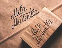 Handlettered Logo for Mila Masteritca knitting shop