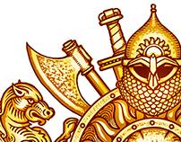"Cognac ""Kniaz Vladimir"" illustration"