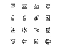 Design And Photography Icons Set