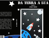 Design editorial do livro Da Terra a Lua de Julio Verne