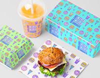 Harajuku Kira Kira Burger – Logo, Branding & Packaging