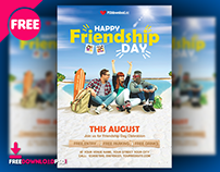 Happy Friendship Day Flyer Template