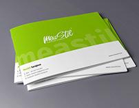 Landscape Brochure Design for MeaStil d.o.o.