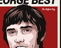 George Best Retro Poster Design