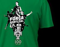 FPF 100 . T-shirt Força Portugal