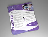 Corporate PSD flyer triangle