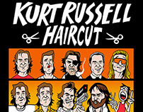 Kurt Russell Haircut Comic for Esquire