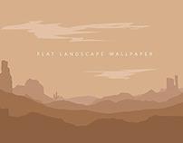 flat landscape Mountain desert background vector