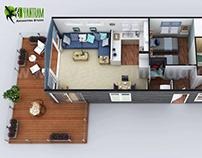 2D & 3D House Floorplans by Yantram architectural studi