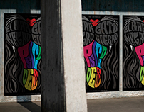 The Black Cat Bar closes - Psychedelic Poster