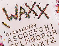 WAXX - Typeface Specimen Poster
