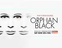 ORPHAN BLACK - editing and online banners